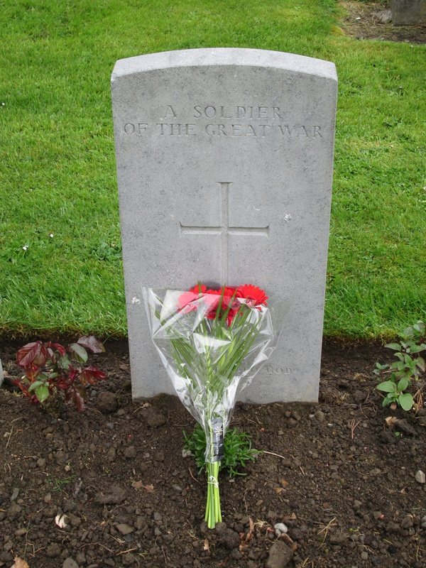 Flowers left for an Unknown soldier.